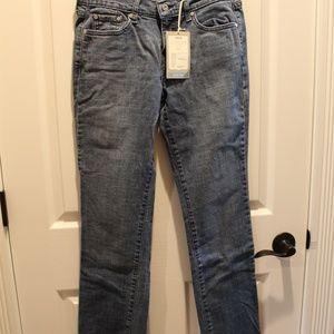 Ladies Levi's 505 Straight Leg Mid Rise 4 M New